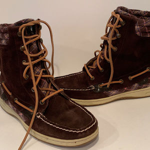 Sperry Top-Sider Hikerfish Brown Plaid Boot